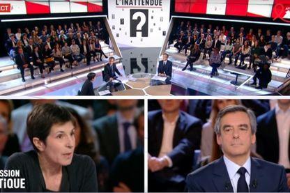 Christine Angot face à François Fillon dans l'émission politique de France 2