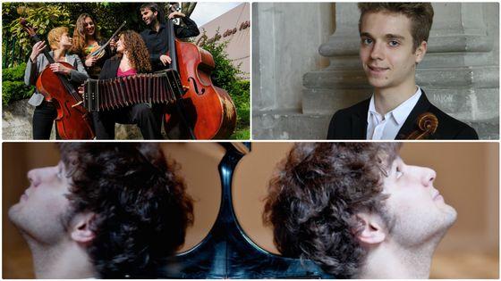 Le Cuarteto Lunares, Emmanuel Coppey, Lukas Geniusas (DR)