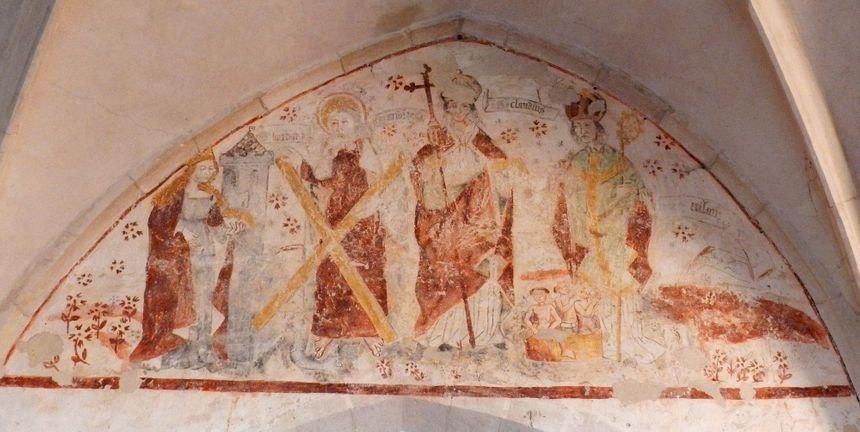 Fresque de l'église de Voinémont, en Meurthe-et-Moselle