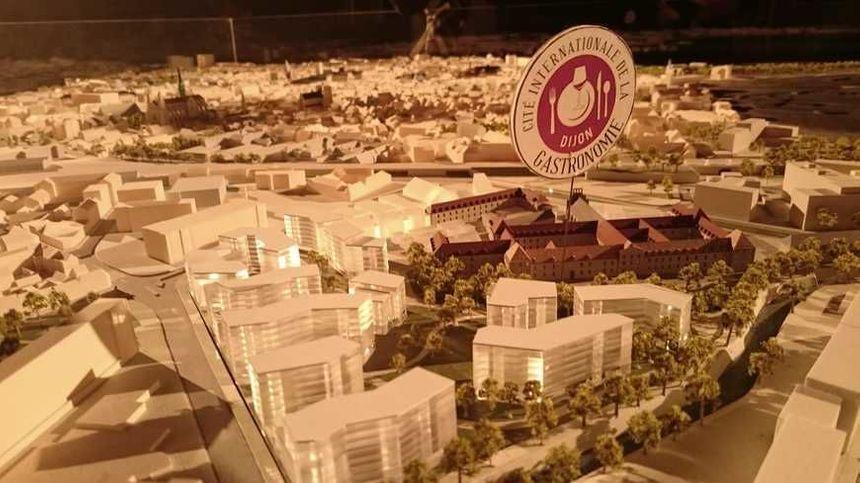 Maquette du projet de la future cité de la gastronomie de Dijon