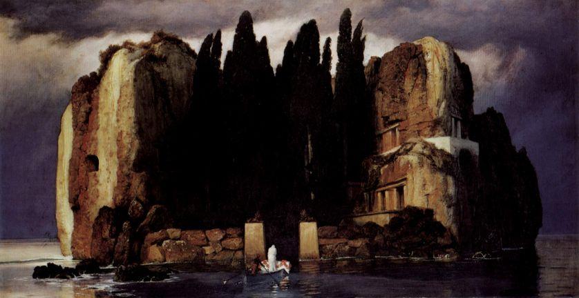 L'Île des morts, 1886, Huile sur bois, 80 × 150 cm