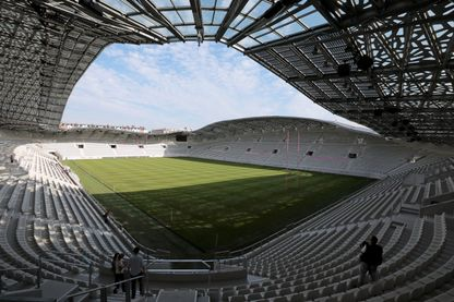 Une vue du terrain de jeu dans le nouveau stade Jean Bouin à Paris, le 23 août 2013.