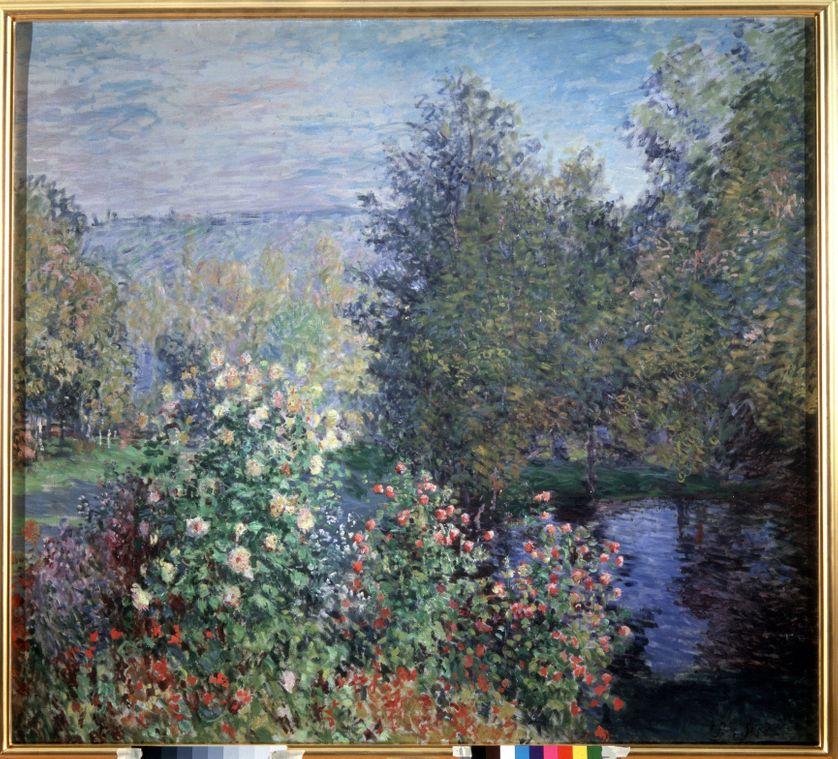 """""""Jardin a Montgeron"""" . Peinture de Claude Monet (1840-1926)"""