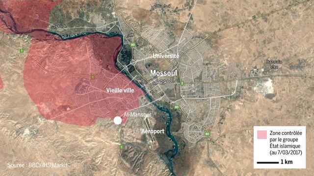 Après avoir repris le quartier d'Al-Mansour et l'aéropot, la coalition internationale doit encore reprendre tout le nord-ouest de la ville.