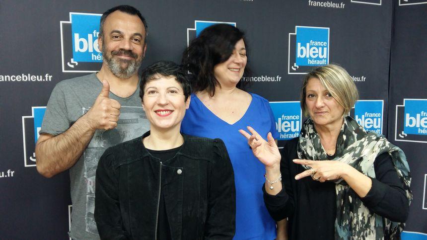 """Dany Lapointe Directrice et Anne Rimbert Présidente de l'association """"Printival"""" à Pézenas."""