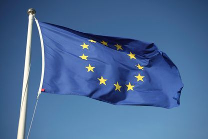 Le drapeau de l'Union européenne UE