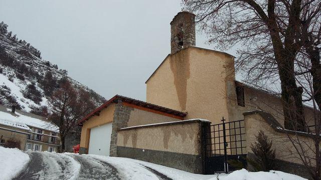 L'église du village de La Rochette (475 habitants)