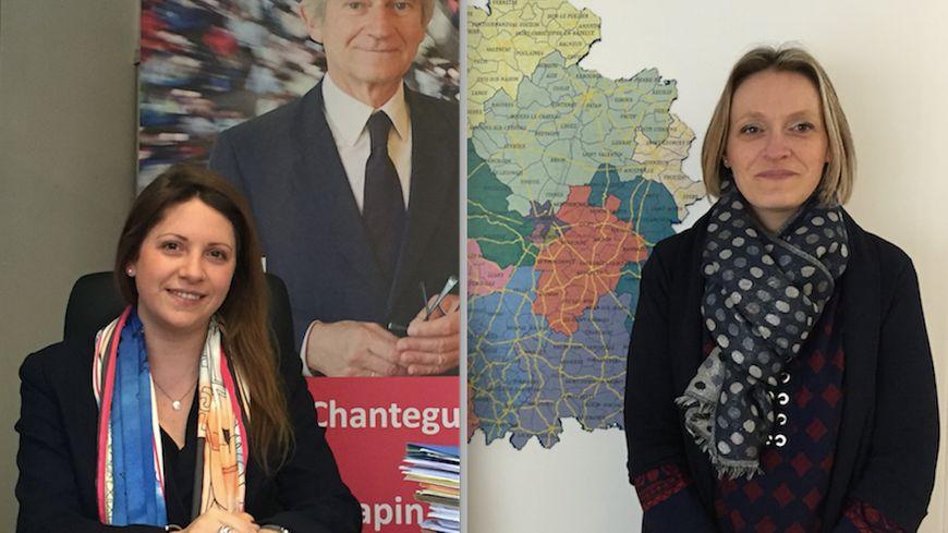 Les attachées parlementaires castelroussines Alison Paquette (à gauche) et Alexandra Darinot (à droite)