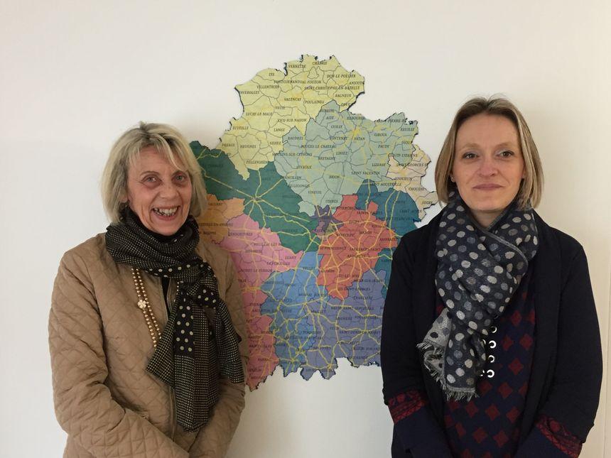 La sénatrice LR de l'Indre Frédérique Gerbaud à gauche et son attachée parlementaire Alexandra Darinot à droite