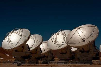 Antennes d'ALMA (Atacama Large Millimeter/submillimeter Array), Chili - 1 octobre 2011