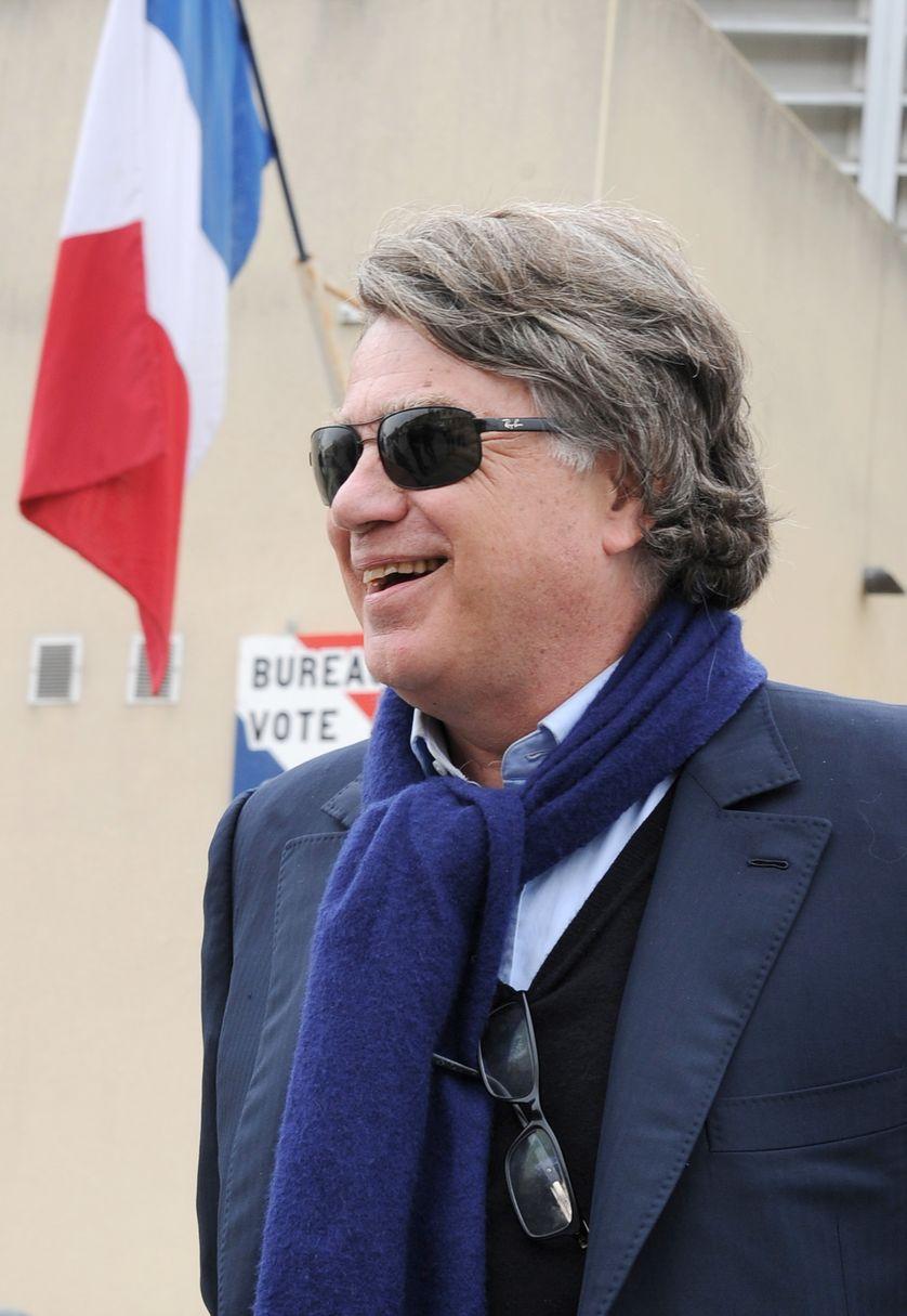 Le candidat FN-RBM Gilbert Collard prétendait en mars 2014 à la mairie de Saint-Gilles, dans le Gard