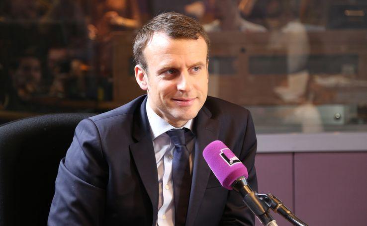 Emmanuel Macron dans les studios de France Culture en janvier dernier.