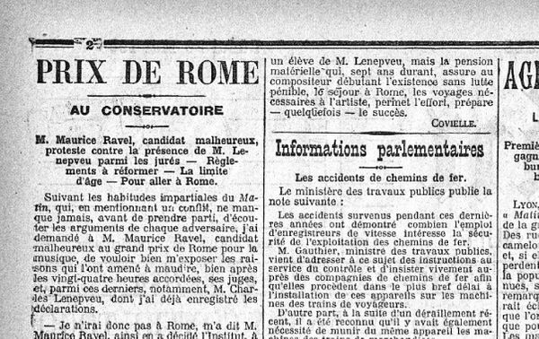 Extrait du journal Le Matin du 22 mai 1905.