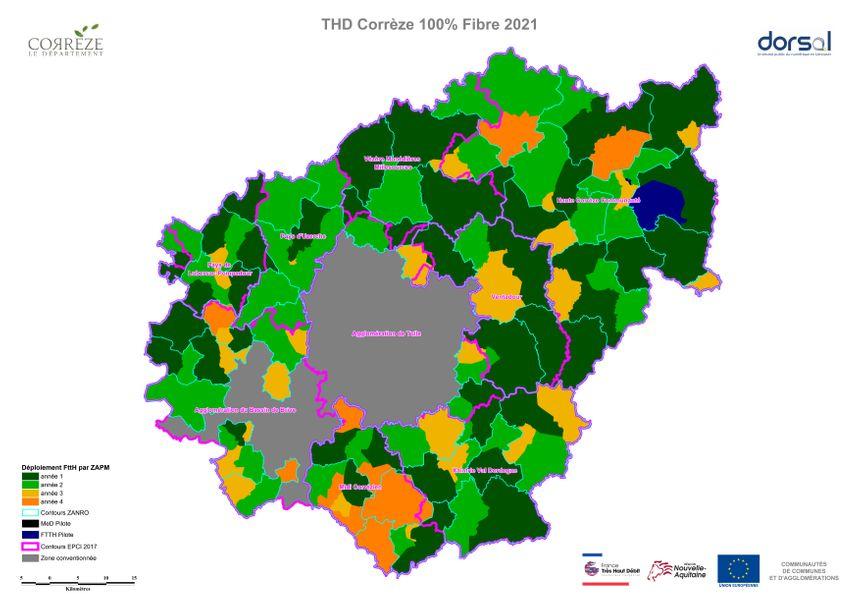 Carte Fibre Orange Bretagne.Carte Ou Et Comment Sera Deployee La Fibre Optique Dans