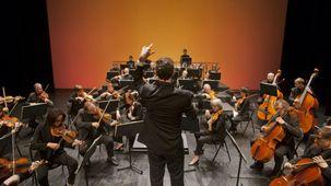 Le chef Robert Tuohy dirigeant L'Orchestre de l'Opéra de Limoges