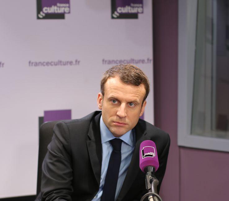 Emmanuel Macron, le 9 mars 2017, dans La Fabrique de l'Histoire.