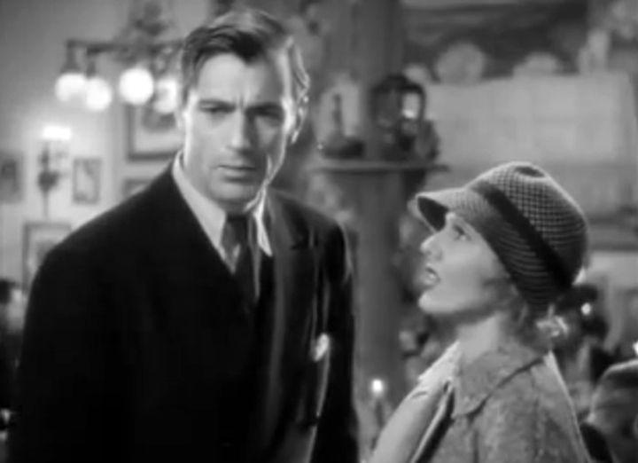 Gary Cooper et Jean Artur dans L'extravagant Mr Deeds (1936)