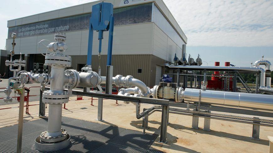 Première centrale industrielle de géothermie profonde, inaugurée en juin 2016, en Alsace