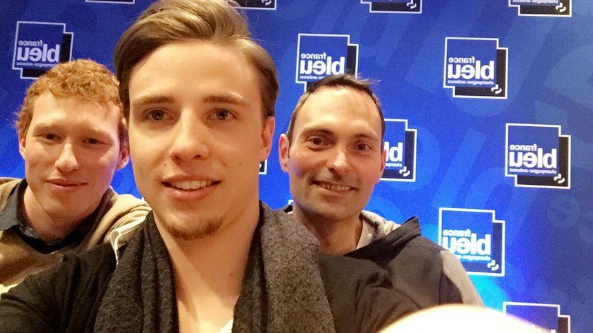 Pierre DAY et Mayron BEAULIEU en studio avec Olivier CATTIAUX