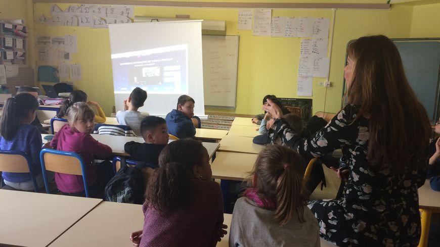 Les élèves ont pu écouter Thomas Pesquet répondre à 29 questions.