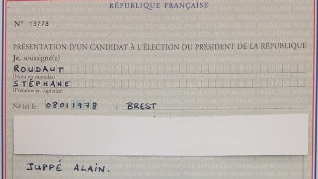 Le parrainage de Stéphane Roudaut pour Alain Juppé