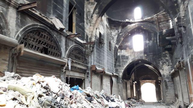 Le souk d'Alep, un décor d'apocalypse