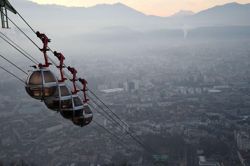 Grenoble dans le brouillard de la pollution, en décembre dernier
