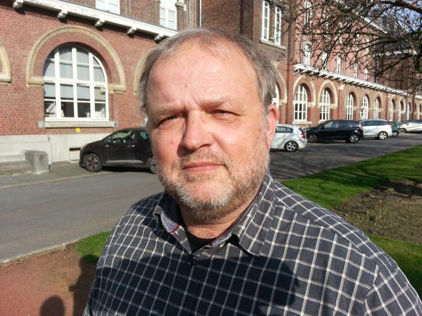 Frédéric De Rycker, secrétaire CGT de l'Hôpital de Roubaix