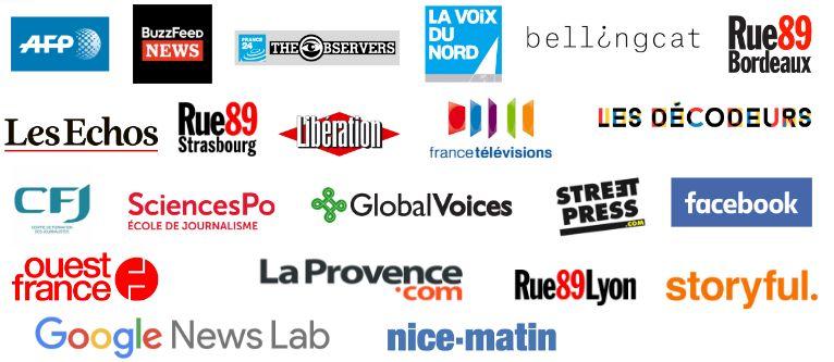 Les médias partenaires de l'initiative CrossCheck