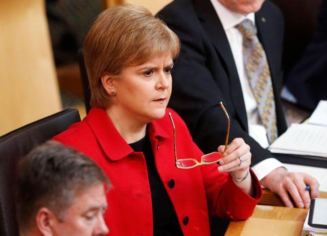Brexit : la Première ministre écossaise Nicola Sturgeon lors d'un débat sur un référendum sur l'indépendance de l'Ecosse