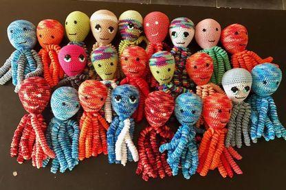 Pieuvres tricotées