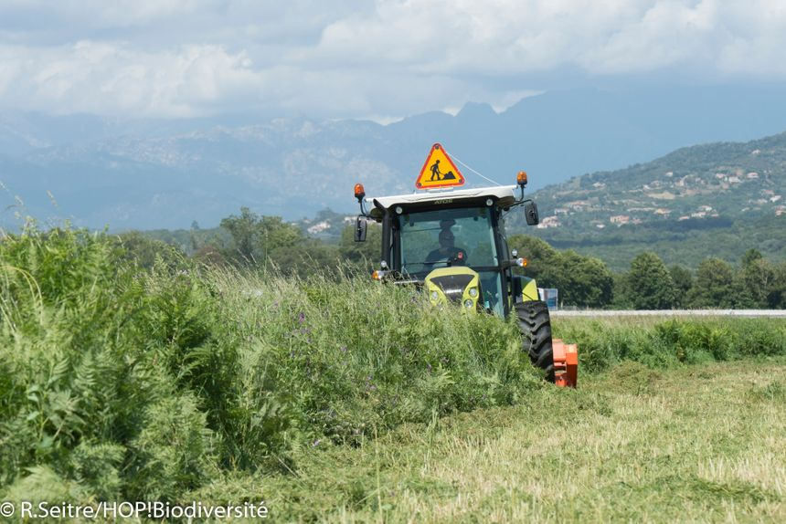 l'aéroport d'Ajaccio compte 120 hectares d'espaces verts