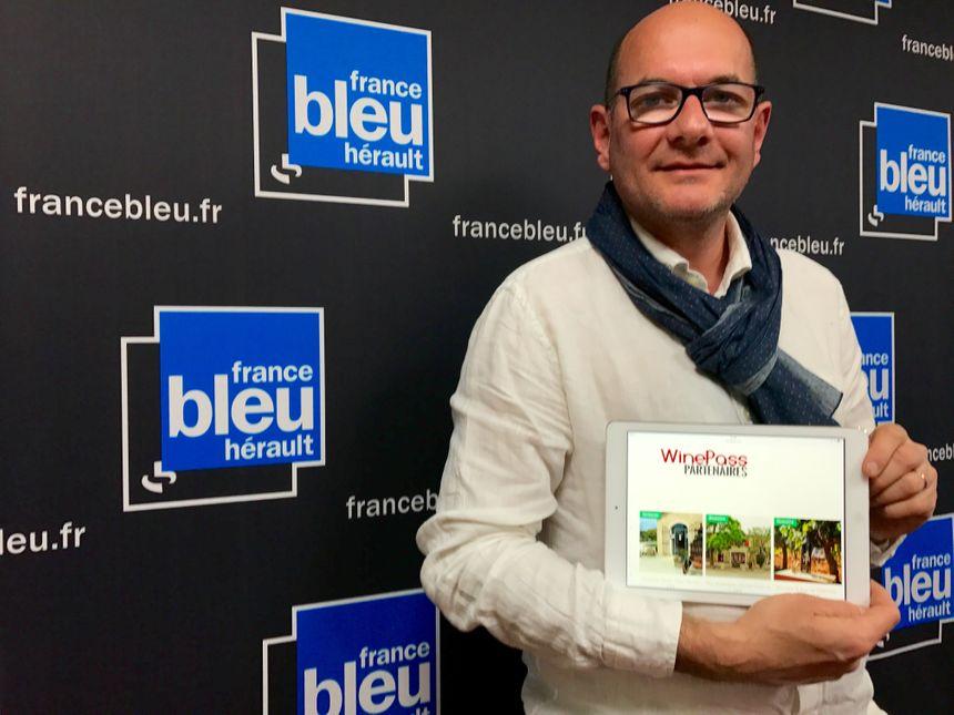 Etienne Mangue le boss de WinePass, l'appli pour visiter les plus beaux domaine de la région