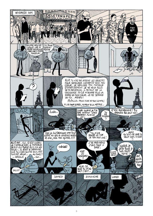 Planche de « Mort & vif » de David Prudhomme et Jef Hautot