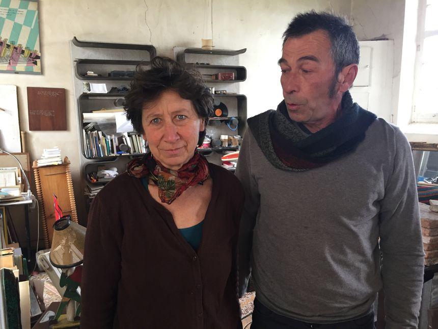 Marie Laure Bourgeois et Vincent Bécheau les concepteurs du monument