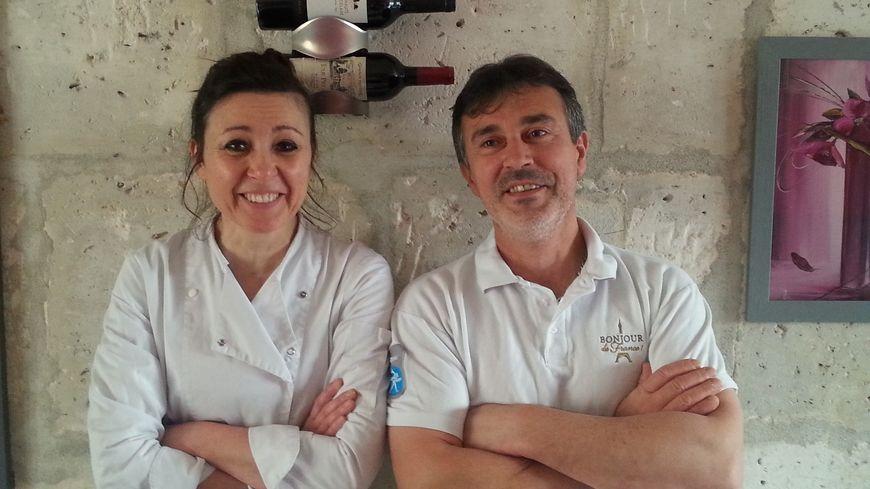 La Chef Isabelle Gréau et Philippe Rubhet