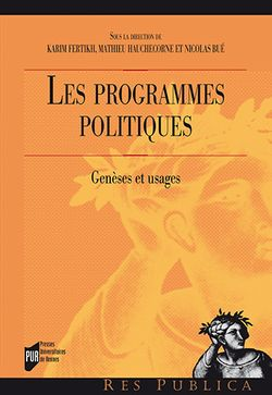 Les prpgrammes politiques - Genèses et usages