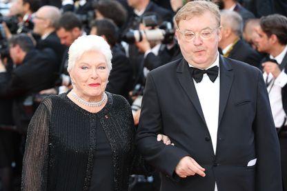 Line Renaud et Dominique Besnehard, festival de Cannes - 11 mai 2016