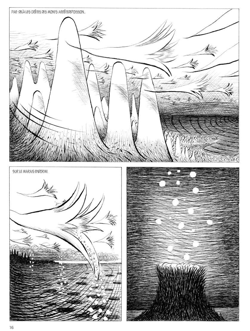 Planche extraite de l'album « Guirlanda » de Mattotti et Kramsky