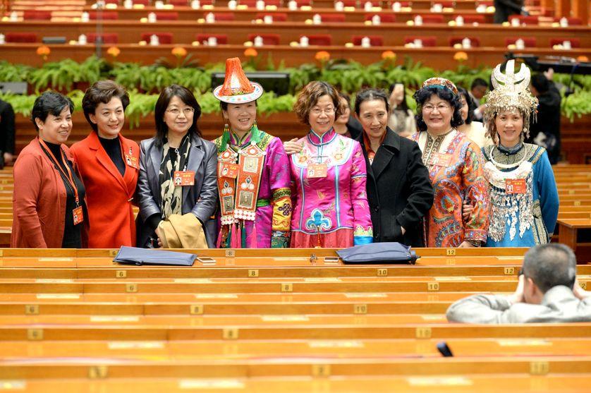 """Des déléguées de certaines populations """"minoritaires"""" de la République populaire de Chine, réunies à Pékin la semaine denrière"""