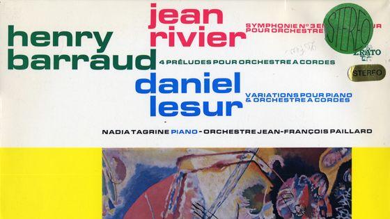 Jean Rivier et l'orchestre Jean-François Paillard