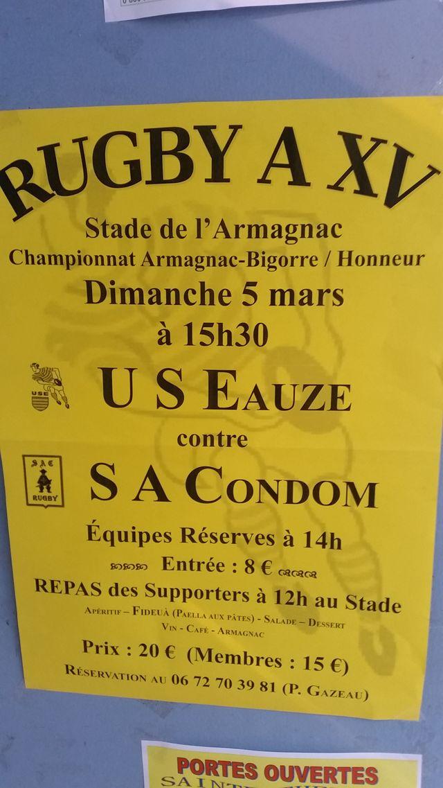A Eauze, l'affiche du week-end au Stade de l'Armagnac