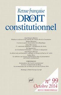 Revue française de droit constitutionnel 2014/3 (n° 99)