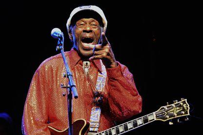 Chuck Berry lors d'un concert à Montevideo en Uruguay, le 15 avril 2013.