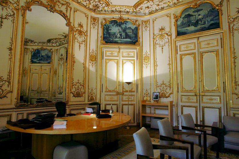 Salon jaune à Matignon