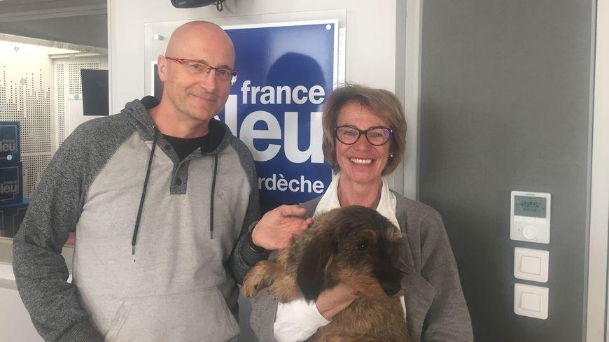 Laurence Cottet ( avec LOL ) et Gérard Millier