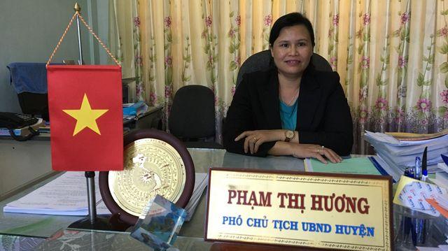 La présidente du comité populaire qui administre l'île de Ly Son, 22.000 habitants sur 10 km²