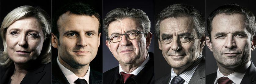 Cinq candidats sur onze ont été conviés à ce débat : Marine Le Pen (FN), Emmanuel Macron (En Marche !), Jean-Luc Mélenchon (La France insoumise), François Fillon (LR) et Benoît Hamon (PS)