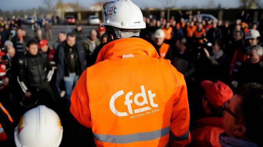 La CFDT lors d'une manifestation
