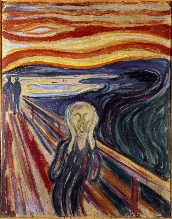 Le cri . Un tableau d'Edvard Munch (1863-1944)